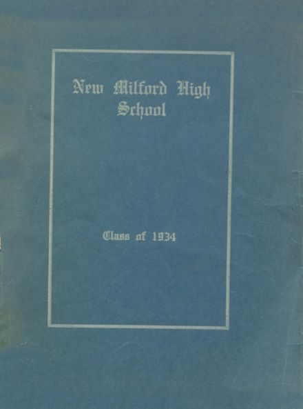 1934 New Milford High School Yearbook Cover