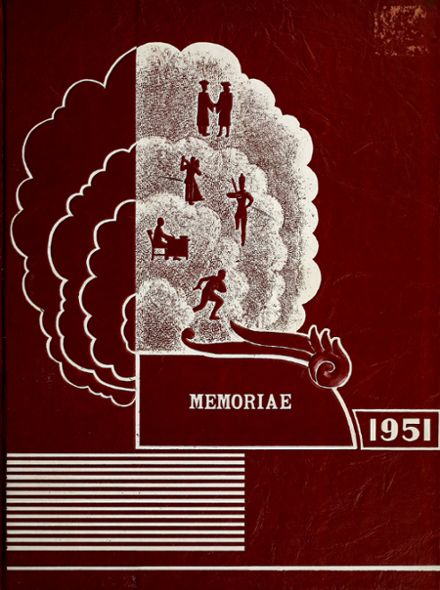 1951 Clear Creek Township High School Yearbook Cover