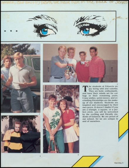 1987 Estancia High School Yearbook Page 7