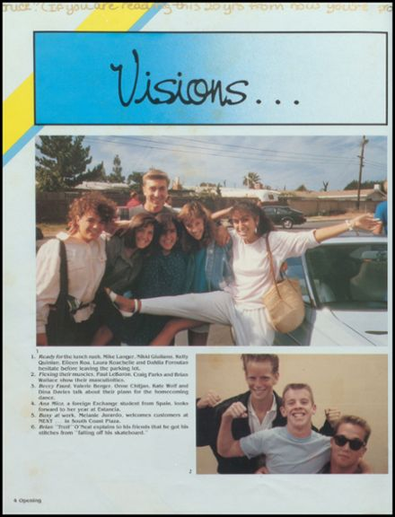 1987 Estancia High School Yearbook Page 8