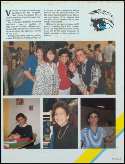 1987 Estancia High School Yearbook Page 9