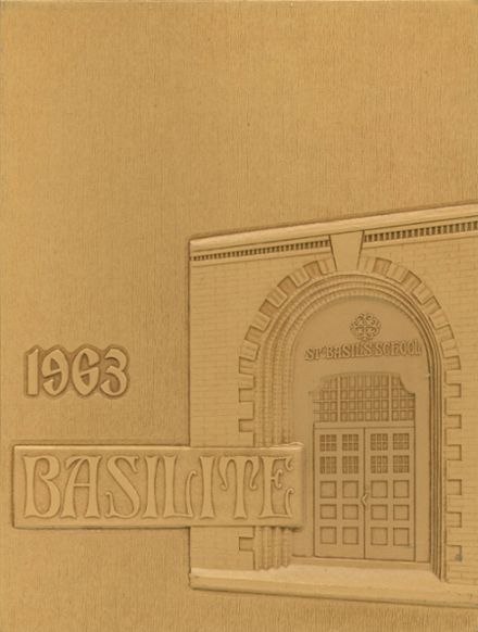 1963 St. Basil High School Yearbook Cover
