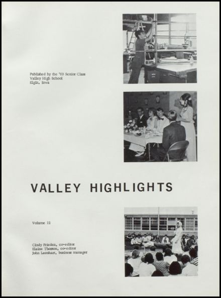 1969 Valley Community High School Yearbook Page 5