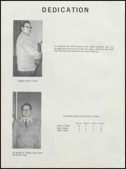 1969 Valley Community High School Yearbook Page 6