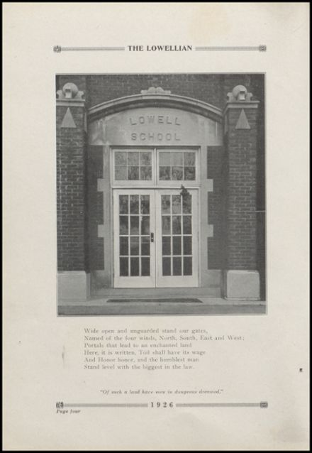 1926 Lowell High School Yearbook Page 8