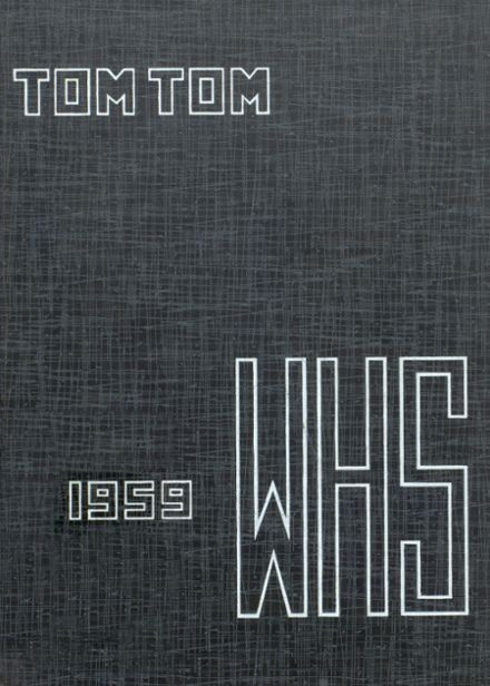 1959 Wicomico High School Yearbook Cover