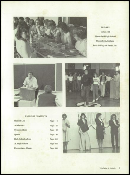 1983 Bloomfield High School Yearbook Page 5