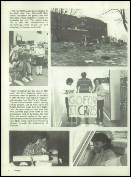 1983 Bloomfield High School Yearbook Page 6