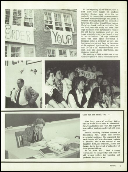 1983 Bloomfield High School Yearbook Page 9