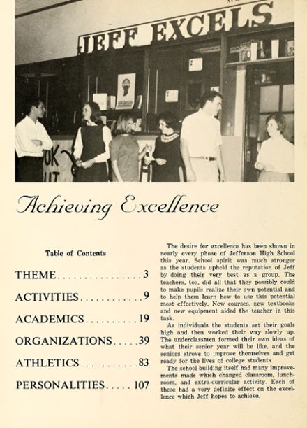 1967 Jefferson High School Yearbook Page 6