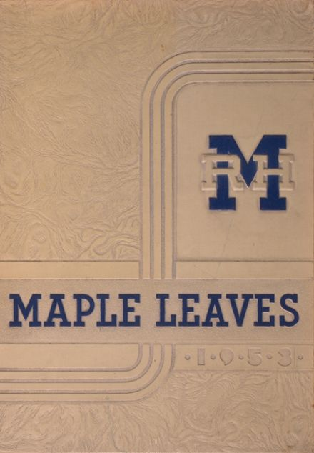 1953 Maplewood-Richmond Heights High School Yearbook Cover