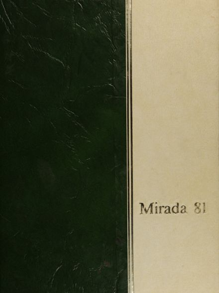 1981 Miramonte High School Yearbook Cover
