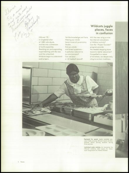 1972 Hillcrest High School Yearbook Page 6