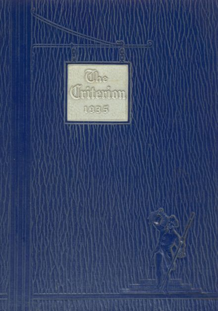 1935 Central High School Yearbook Cover