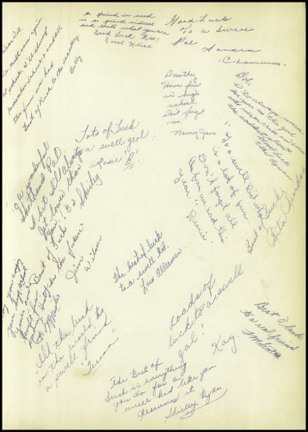 1952 Allegany Central School Yearbook Page 3