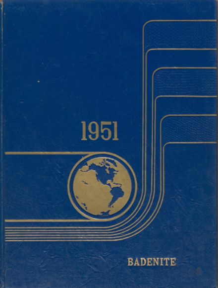 1951 New Baden Community High School Yearbook Cover