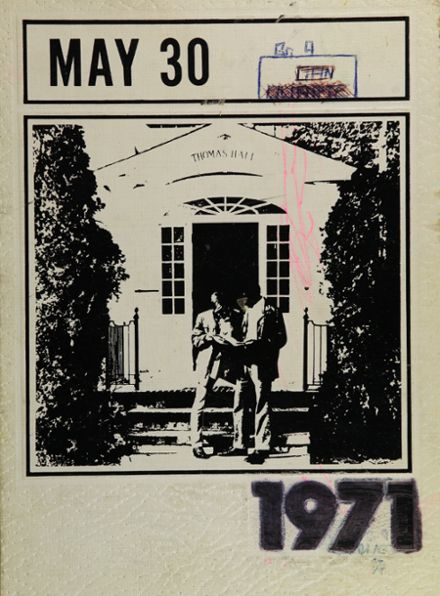 1971 Austin-Cate Academy Yearbook Cover