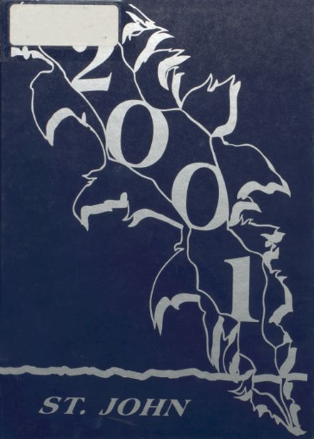 2001 St. John's High School Yearbook Cover