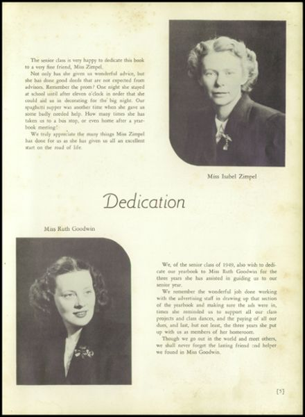 1949 Burnt Hills-Ballston Lake High School Yearbook Page 9