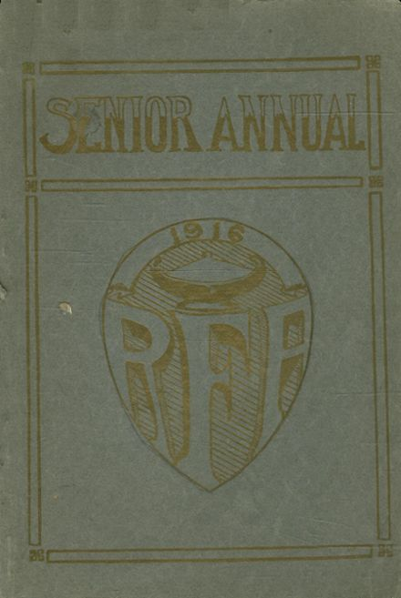 1916 Rome Free Academy Yearbook Cover