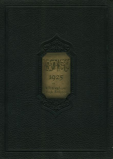 1925 St. Petersburg High School Yearbook Cover