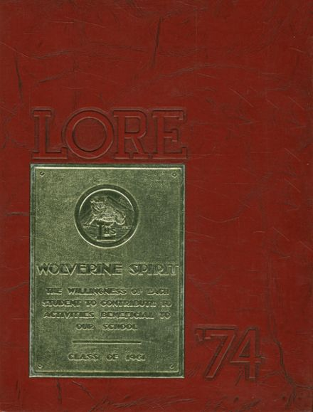 1974 Lawton High School Yearbook Cover