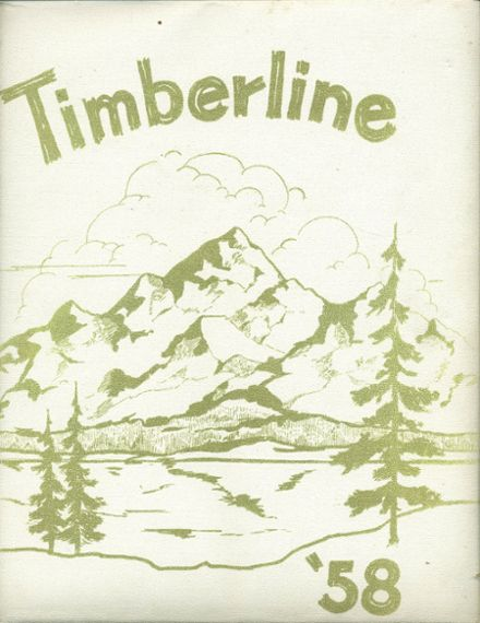1958 Lake Quinault High School Yearbook Cover