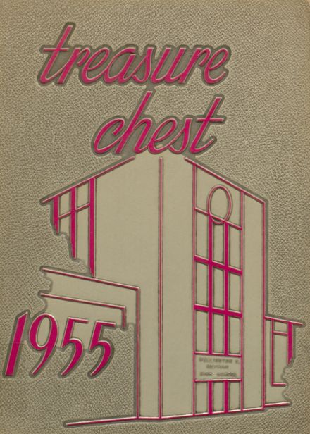 1955 Mepham High School Yearbook Cover