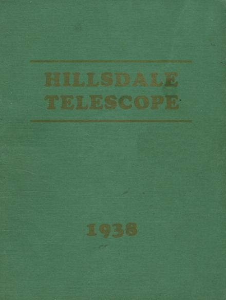 1938 Hillsdale School Yearbook Cover