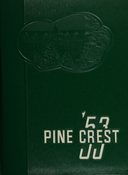1953 Morrison Cove High School Yearbook Cover