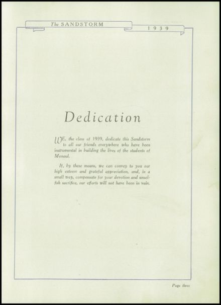 1939 Menaul High School Yearbook Page 5