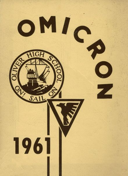 1961 Oliver High School Yearbook Cover