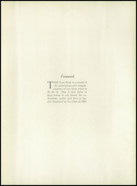 1929 Medford High School Yearbook Page 7