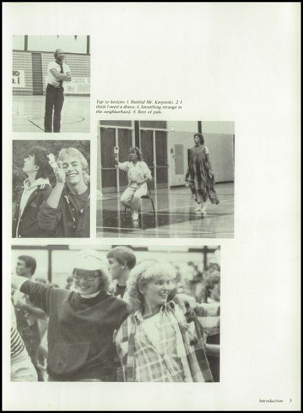 1985 Kimberly High School Yearbook Page 9