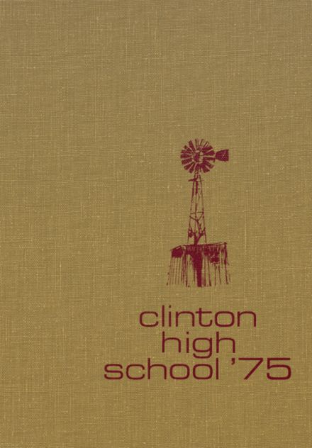 1975 Clinton High School Yearbook Cover