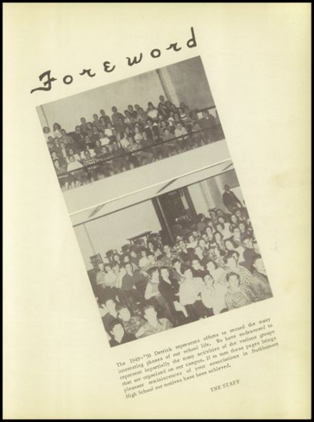 1950 Burkburnett High School Yearbook Page 9
