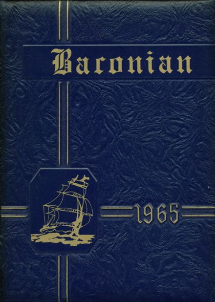 1965 Bacon Academy Yearbook Cover