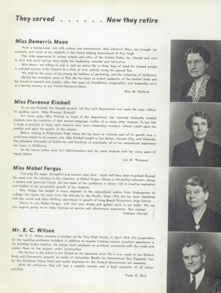 1943 Long Beach Polytechnic High School Yearbook Page 7