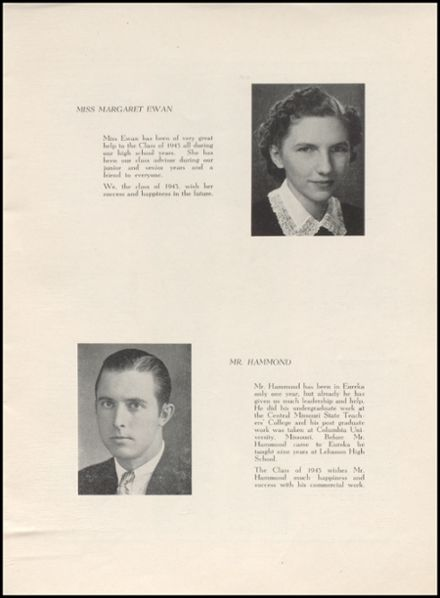 1943 Eureka High School Yearbook Page 5