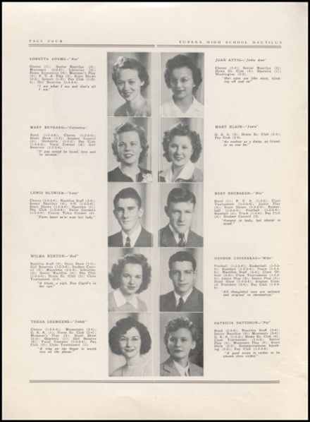 1943 Eureka High School Yearbook Page 6