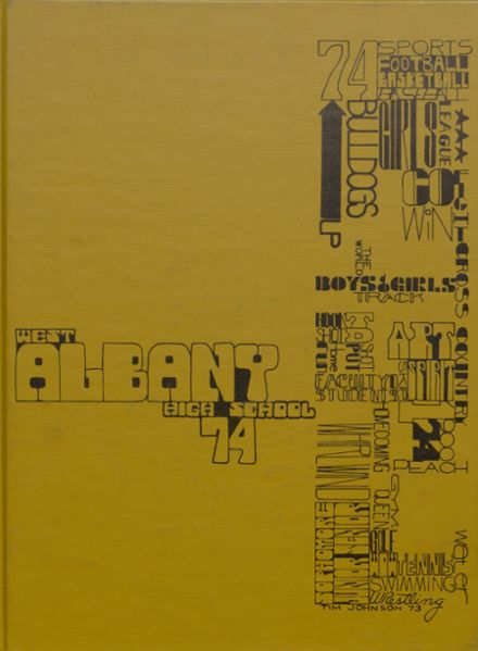 1974 West Albany High School Yearbook Cover