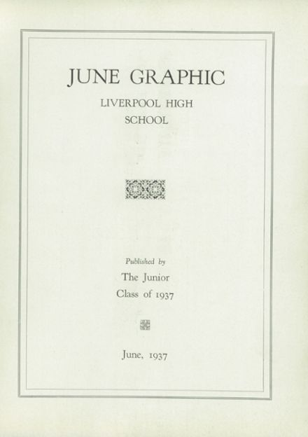 1937 Liverpool High School Yearbook Page 3