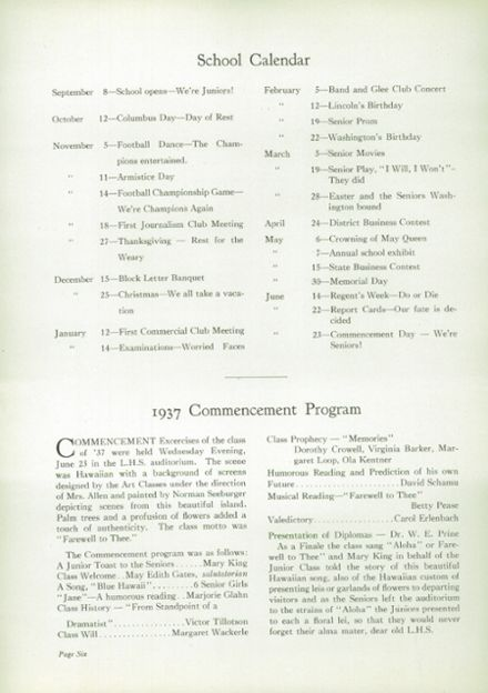 1937 Liverpool High School Yearbook Page 8