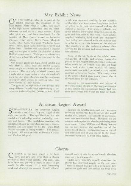 1937 Liverpool High School Yearbook Page 9