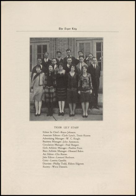 1927 Port Allegany High School Yearbook Page 9