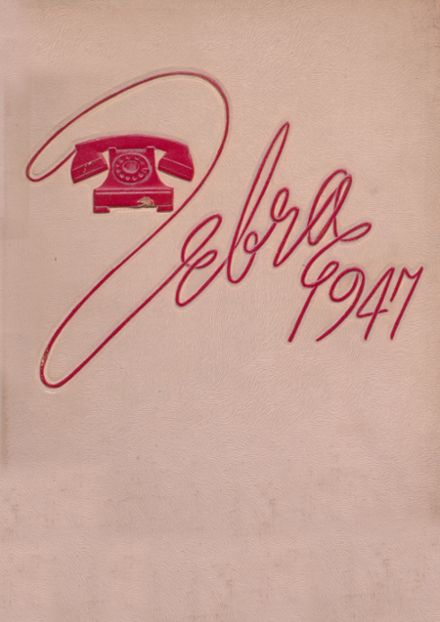 1947 Pine Bluff High School Yearbook Cover