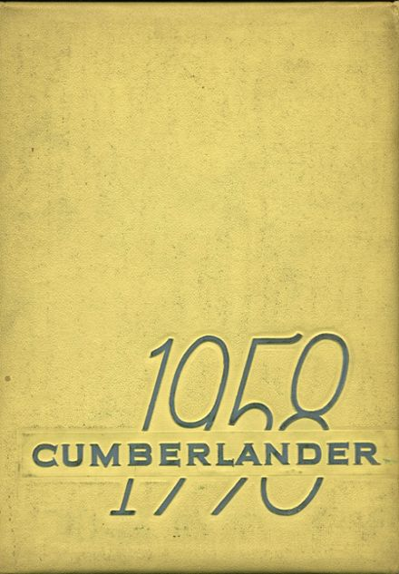 1958 Cumberland Township High School Yearbook Cover