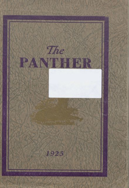 1925 Central High School Yearbook Cover