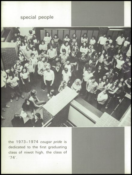 1974 Niwot High School Yearbook Page 6