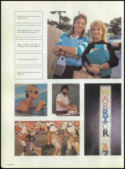 1987 Seminole High School (Pinellas County) Yearbook Page 6